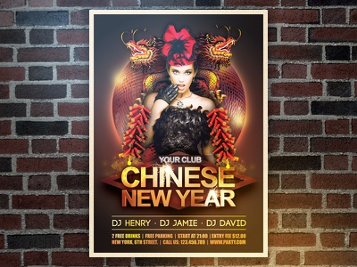 Chinese New Year Flyer chinese flyer poster print event chinese new year spring festival