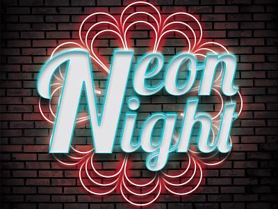 Neon Night neon lights typography