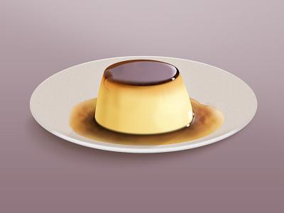 Pudding pudding dessert illustration food