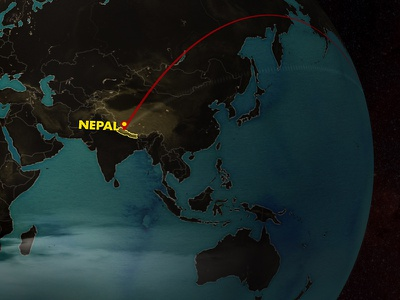 Flight To Nepal soundtrek travel fisher creative cinema c4d mocap ae after effects