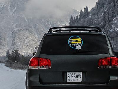Blizzard Of Aaahh's 30th Anniversary Logo design ski graphics promotion film tour film ski logo