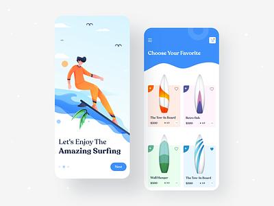 Product App UI android 2020 trand tranding app surfboards mobile app ios ux product ios app design design ui minimal creative design typography uiux