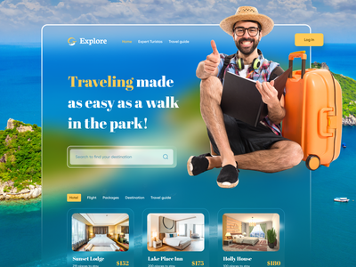 Travel Agency colorful web ui ui landing page creative design website uiux travel agency agency adventure trip vacation booking typography minimal clean ui destination tour world hotel