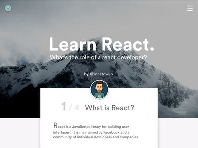 Learn React icon react.js logo animation typography ui ux illustration branding vector ux ui design minimal