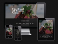 Recipes responsive website