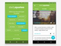 Google Material Design app concept