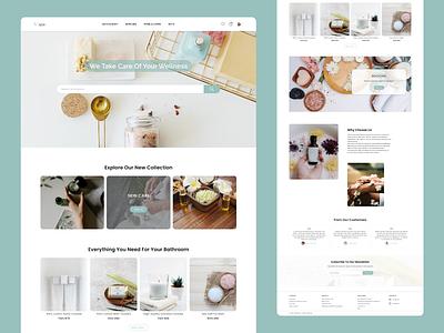 E-commerce Website Design image home page web website logo typography ux ui design