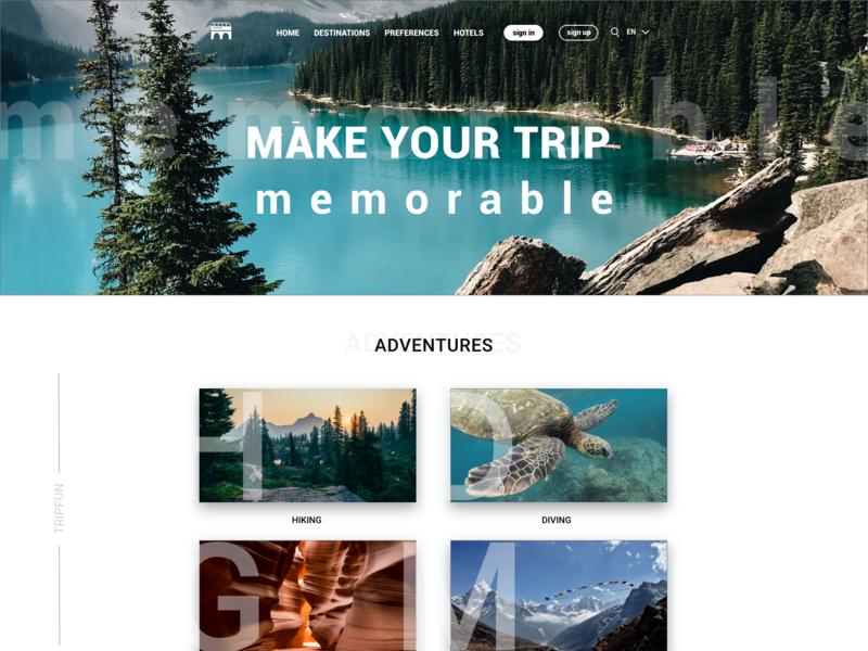 Traveling website website web ux typography ui design