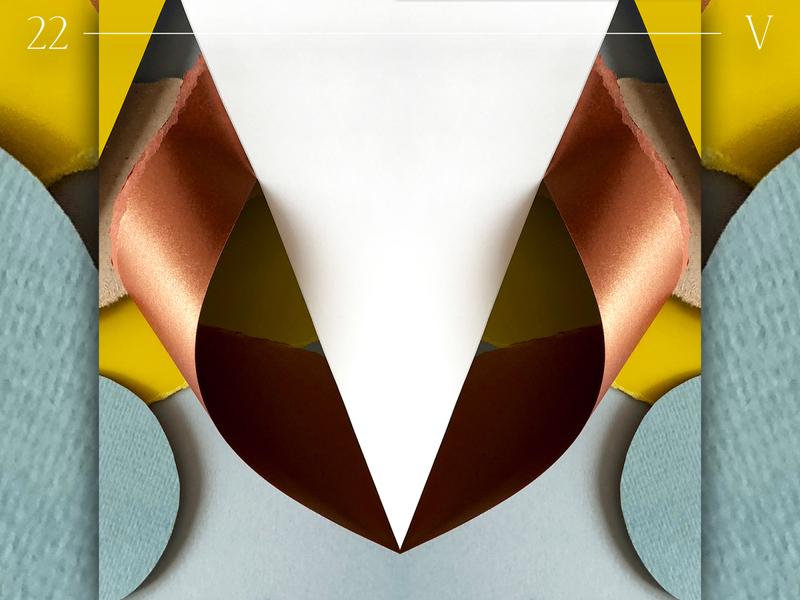 V   36 days of type identity texture papercraft illustrator layout pattern symmetrical symmetry geometric typo 36 days of type 36daysoftype typography papercut branding paper art paper graphic design design illustration