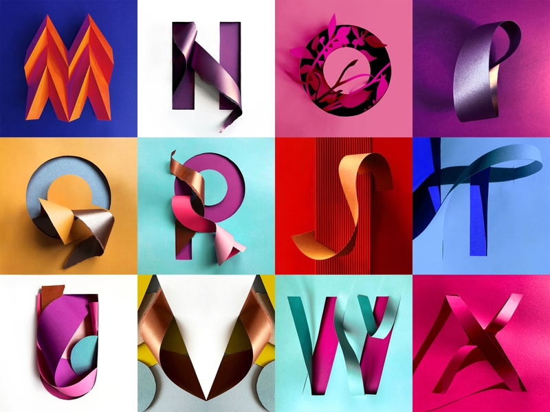 36 Days of Type 2020 - 7th edition origami handcrafted color sculpture illustration 3d texture goodtype typo type letter 36 days of type 36daysoftype typography papercut branding paper paper art graphic design design illustration