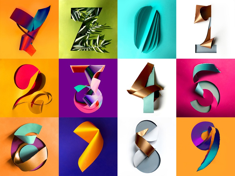 36 Days of Type 2020 - 7th edition colorful gradient customtype handmadetype illustrated handcrafted handmade sculpture illustration 3d origami 36 days of type 36daysoftype typography papercut branding paper paper art graphic design design illustration