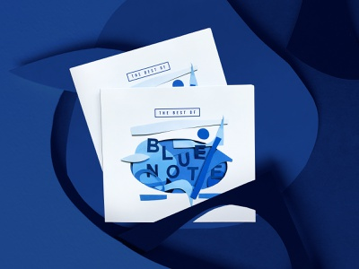 The best of Blue Note | Music artwork typography handmade cd cover cd music cover graphic design packaging cover design music illustration paper blue note jazz paperart papercutting papercut