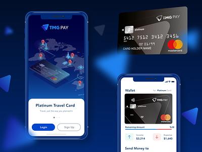 Travel Card app minimal user interface flat ux mobile app design ui  ux app ui design uiux ui uidesign design