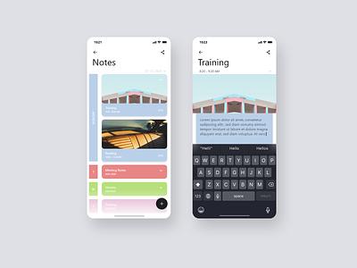 Daily UI #065 - Notes Widget widget notes branding mobile daily 100 challenge adobe xd dailyui daily challange ui ux app design