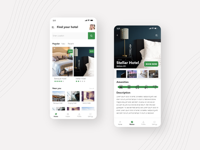 Daily UI #67 | Hotel Booking ui ux redesign interface booking app booking system concept daily ui 067 branding design hotel booking hotel app travel app airbnb daily 100 challenge daily ui travel hotel booking