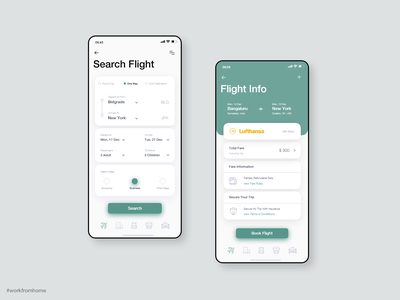Daily UI 68 — Flight Search travel flights flight booking flight search flight app flight mobile adobe xd dailyui daily 100 challenge ui daily challange app ux design