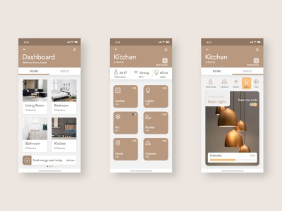 Smart Home APP stay safe stay home app design smart home icon interface lamp smarthome 2020 vector kitchen web mobile adobe xd ui ux design dashboard app dashboad home