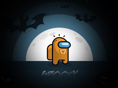Halloween among us dribbbleweeklywarmup spooky season spooky halloween design halloween design vector illustration