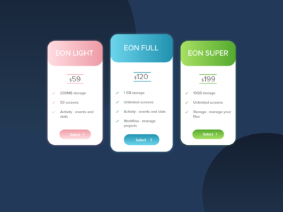 Daily UI #030 - Pricing table