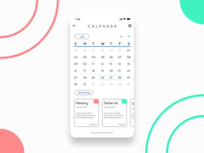 Daily UI #038 - Calendar