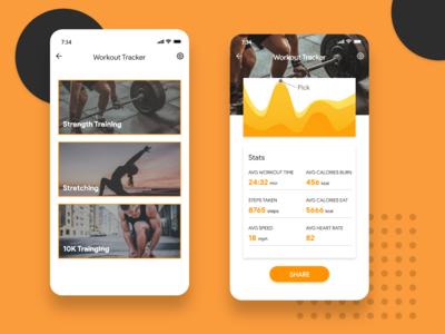 Daily UI #041 - Fitness Tracker