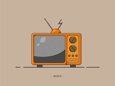 Old TV - illustration