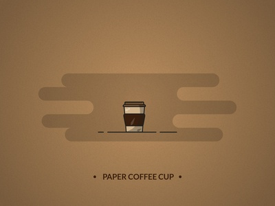 Coffee paper cup - coffee set