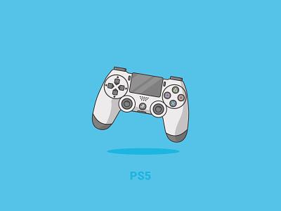 PS5 vector branding industry illustraion illustrator design gaming ps sony brand controller online games playstation5 playstation ps4 ps5