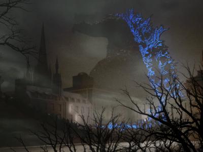 Godzilla over Edinburgh