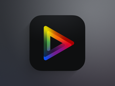 Playlist Music Player play playlist colors icon ios app ipad iphone ipod music logo matte