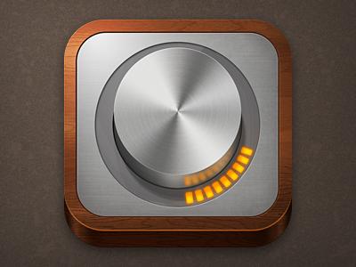 Monome Arc icon ipad iphone wood metal led brushed metal dial