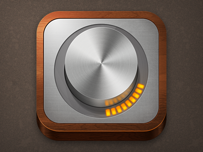 Monome Arc icon ipad iphone wood metal led brushed metal dial