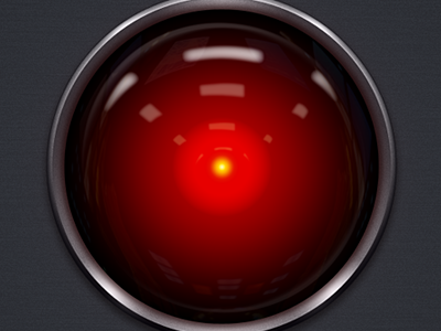 HAL 9000 hal9000 hal 2001 wallpaper metal texture sphere red