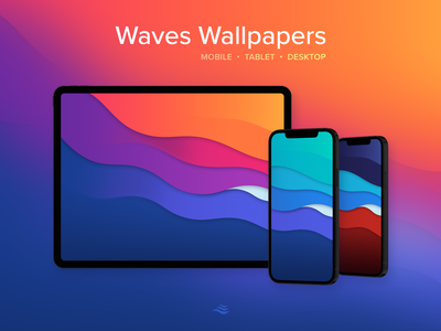 Waves Wallpapers colors waves windows pc mac iphone ipad desktop tablet mobile wallpaper