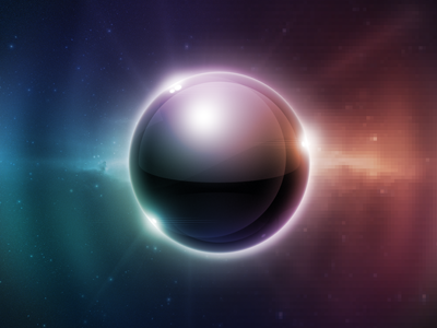 Sphaera sphere ball reflections gloss glow space colors wallpaper