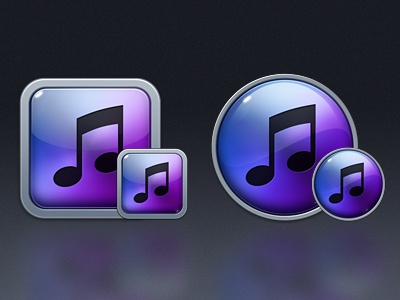 iTunes X Replacement Final itunes icon blue purple music itunes 10 reflection