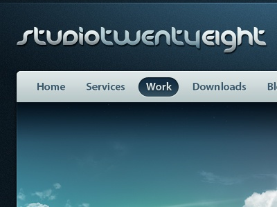 StudioTwentyEight v7 web design navigation menu