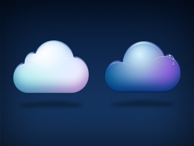 Clouds clouds mobileme cloudapp icons blue purple