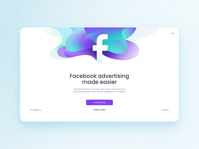 Illustration for pop-up colorfull ads facebook ui web flat illustration modal window pop-up