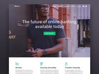 Bank landing page