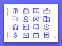 Game form icon set