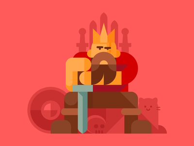 Any image better if you add cat character shield illustration cat game of thrones throne medieval king sword infographics life is feudal feudalist
