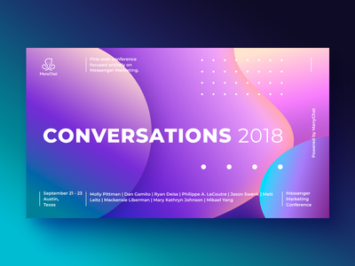 Conversation Card poster card texas 2018 automation bot facebook messenger conference marketing