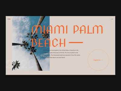 Miami Palm Beach Landing page