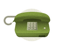 Olive Green Old Phone