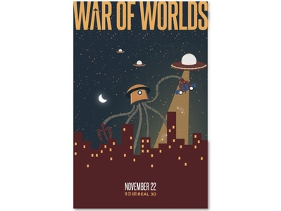 War Of Worlds Poster Design