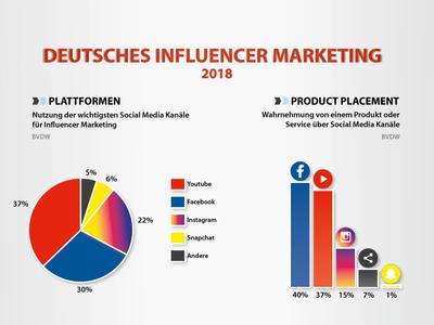 Infografik Deutsches Influencer Marketing