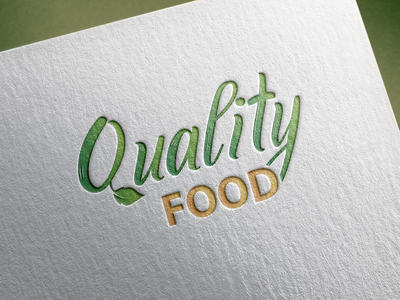 Quality Food | Branding branding logodesign design logo graphic design color adobe illustrator adobe photoshop