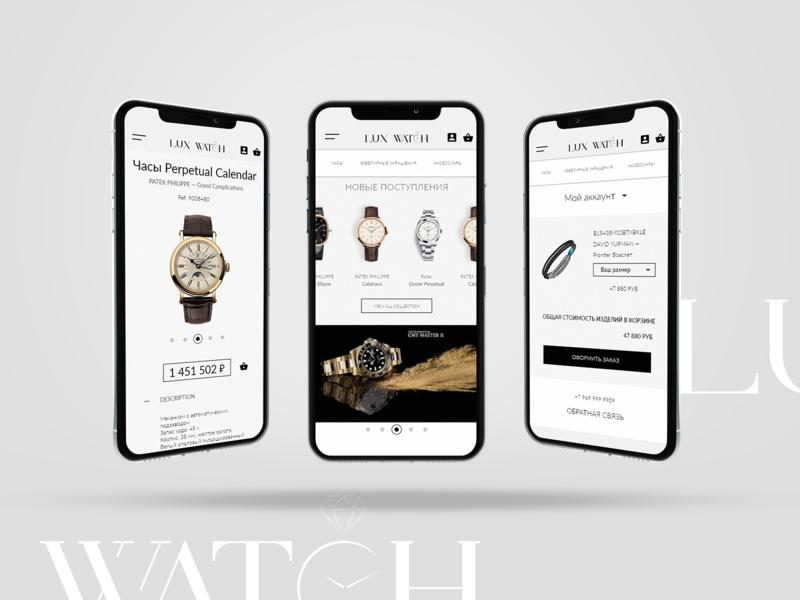 Lux Watch - Mobile Application ui design color ui  ux webdesign