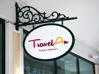 """TravelAn"" Logo Design for Tour Company tourism graphicdesgn logodesign logo color adobe photoshop adobe illustrator"